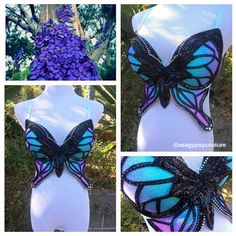 seagypsy couture [formerly whythecagedbirdsingz] - costume design Rave Festival, Festival Wear, Festival Outfits, Festival Fashion, Mermaid Bra, Mermaid Outfit, Rave Costumes, Cosplay Costumes, Bedazzled Bra