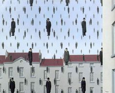Rene Magritte - Golconda, 1953, oil on canvas