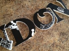 7.5 hand painted wooden letters for nursery by LittleJosBoutique, $10.00