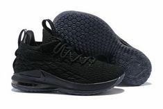 "d99a4077e6b3 2018 All Black LeBron 15 Low ""Triple Black"" Men s Basketball Shoes"
