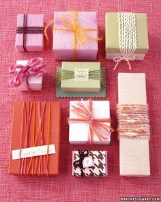 Yarn favor boxes by Martha Stewart