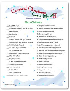 Christmas Carol Match -decipher clues to the Christmas carol, printable Christmas games. Xmas Games, Holiday Party Games, Christmas Games, Christmas Activities, Christmas Carol, Christmas Printables, Christmas Traditions, Family Christmas, Holiday Fun