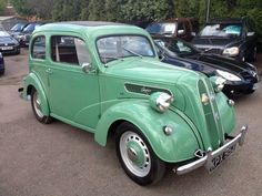 1940s Ford Anglia, maybe a 40s car but I remember seeing many of these lovely old cars around in the 50s