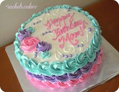 ideas for cake desing anniversaire Cake Icing, Buttercream Cake, Eat Cake, Fancy Cakes, Mini Cakes, Cupcake Cakes, Cake Decorating Techniques, Cake Decorating Tips, Fete Marie