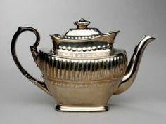 Teapot with Sugar Bowl ENGLISH, STAFFORDSHIRE (ENGLISH) 19TH CENTURY