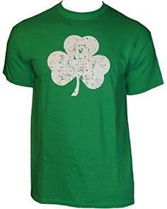 USA SCREEN PRINTED Retro Green Irish Distressed Shamrock T-shirt St Patricks Day Mens Ireland Pride Tee Shirt (affiliate)