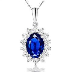 MAXINA pendentif Saphir et Diamant