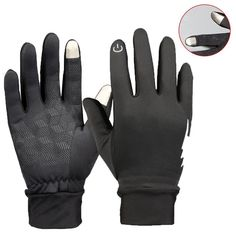 Mens Winter Windproof Work Gloves, Warm, Touch Finger Thinsulate Insulation XL #MensWinterWindproofWorkGloves