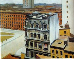 snowce: Edward Hopper, The City