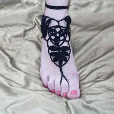 crochet barefoot sandals no pattern