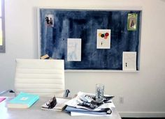 Don't like the color of traditional corkboard for your home office?  Then just paint it!  This tut shows you how. :D