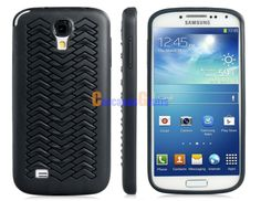 Fish-scale Pattern TPU Rubber Protective Case for Samsung Galaxy S4/ I9500 (Black)