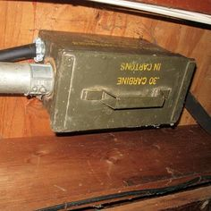"""""""This is an ammo box used as a junction box. I didn't check to see if there were any live rounds in the box."""""""