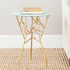 Tara Accent Table Gold - Safavieh : Target