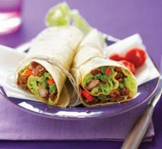 Sweet chilli pork wraps | Healthy Food Guide