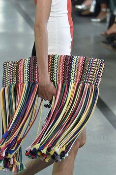 Emilio Pucci Spring 2017. women's fashion and style. accessories. handbag. boho. clutch
