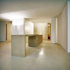 The Manhattan loft was desigend by Claudio Silvestrin, an Italian architect and designer, and a British citizen Studio Interior, Kitchen Interior, Kitchen Design, Design Oriental, Concrete Kitchen, Concrete Bench, Concrete Countertops, Online Interior Design Services, New York Loft