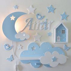 Wooden bedroom wall or door letter Holzbuchstaben 15 & 10 cm Baby Bedroom, Baby Boy Rooms, Bedroom Wall, Kids Bedroom, Room Baby, Bedroom Doors, Baby Room Wall Decor, Baby Decor, Nursery Decor