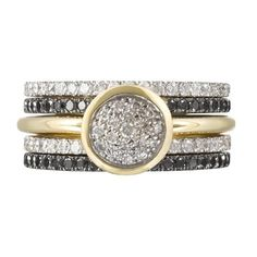 Dower & Hall Wicked' Stack Set of 5 Rings