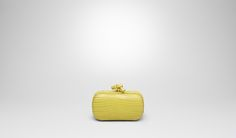 Bottega Veneta® | New Chartreuse Soft Crocodile Fume Knot | Clutch | Bags