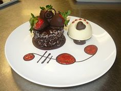 chocolate strawberry garnish