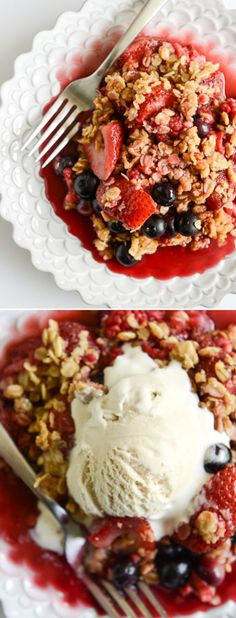Summer Sangria Berry Crumble by @howsweeteats I howsweeteats.com