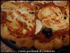 Pizza au chèvre sauce tomate aubergine-poivron