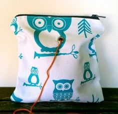 Top Shelf Totes Yarn Pop - Turquoise Owl - Small
