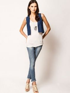 UCB Denim Shrug With Lace back