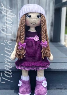 PATTERN Crochet Adry Doll Purple Dress PATTERN Crochet Doll