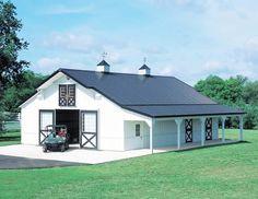 Cute! Looks like a horse barn.
