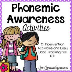 21 Phonemic Awareness Activities that are PERFECT for small group or RTI. Easy prep and data tracking! #mrsrichardsonsclass