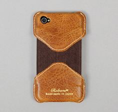 LEATHER IPHONE 4 CASE, CLASSIC BROWN :: HICKOREE'S