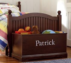 Love this! Need for Emree's room. would be so simple to build. Old headboard, some lumber, and crown molding around the bottom.