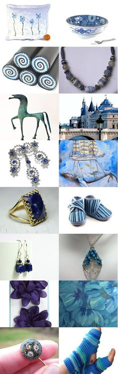 winter in blue  by mira (pinki) krispil on Etsy--Pinned with TreasuryPin.com