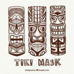 Tiki Maske, Tiki Art, Vintage Tiki, Tiki Room, Skull, Ink, Wood Carvings, Agent Provocateur, Collection