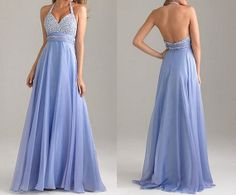 Sweetheart Prom Dress Backless Halter Long Chiffon by XOXOdress, $109.00