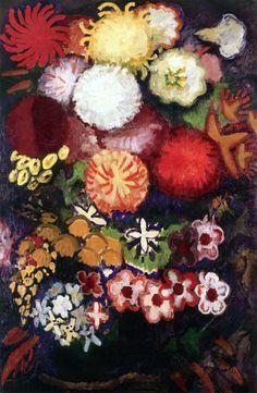 """ Large Bouquet of Flowers Artist: Kees Van Dongen Year: 1910 Type: Oil on canvas """