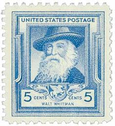1940 5c Walt Whitman - Catalog # 867 For Sale at Mystic Stamp Company