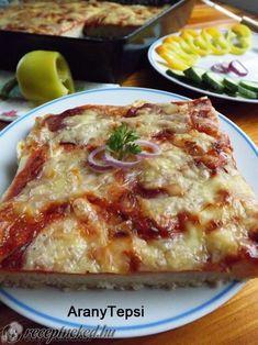 Egyszerű szalámis pizza Pizza, Lasagna, Ethnic Recipes, Foods, Food Food, Food Items, Lasagne