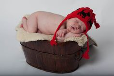 Red Cotton Hat Knit Newborn Baby Hat Red with Black Scottie Dogs Infant Size Beanie Cap. $20.00, via Etsy. @Hailey Phillips Booth