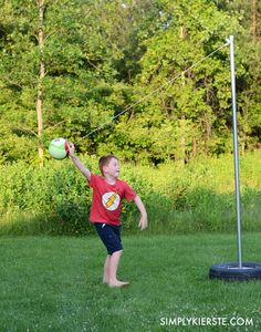 How To Make Your Own DIY Tetherball Set...For Half The Cost! Outdoor  GamesOutdoor ...