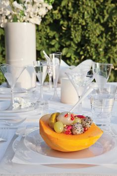 Modern disposables are a cost effective way to add a touch of class to your next event. #weddings #catering #disposables