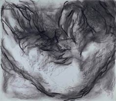 William Tucker - Odalisque (2005-12), Charcoal on paper - 81 x 101.5 cm