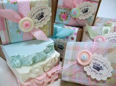 Wow!  This is beautiful!  Baby Shower Gourmet Soap Favors by AbbeyJames on Etsy, $9.49