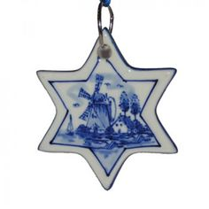 CHRISTMAS DECORATION STAR DELFT BLUE 1 - Christmas specials | Holland Souvenir Shop NL