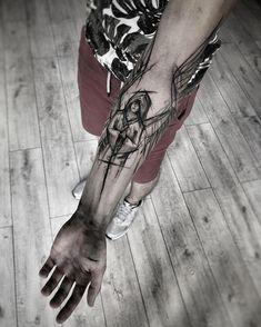 Line art tattoo sleeve tatoo ideas Hand Tattoos, Line Art Tattoos, Black Tattoo Art, Large Tattoos, Wolf Tattoos, Forearm Tattoos, Black And Grey Tattoos, Body Art Tattoos, New Tattoos