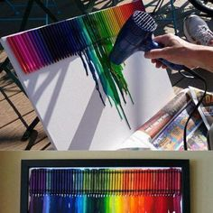 Do it yourself! Melted crayon art