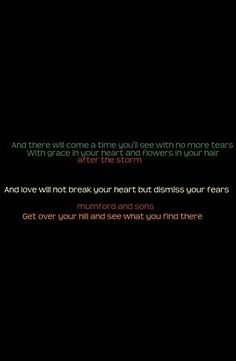 after the storm - mumford and sons
