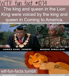 I knew Mufasa but I had no idea she did momma lion's voice!